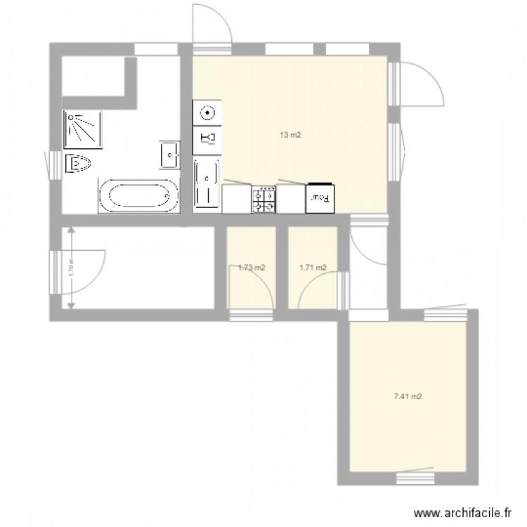 Nabeul 2 plan 4 pi ces 24 m2 dessin par nabeul for Meuble bureau nabeul