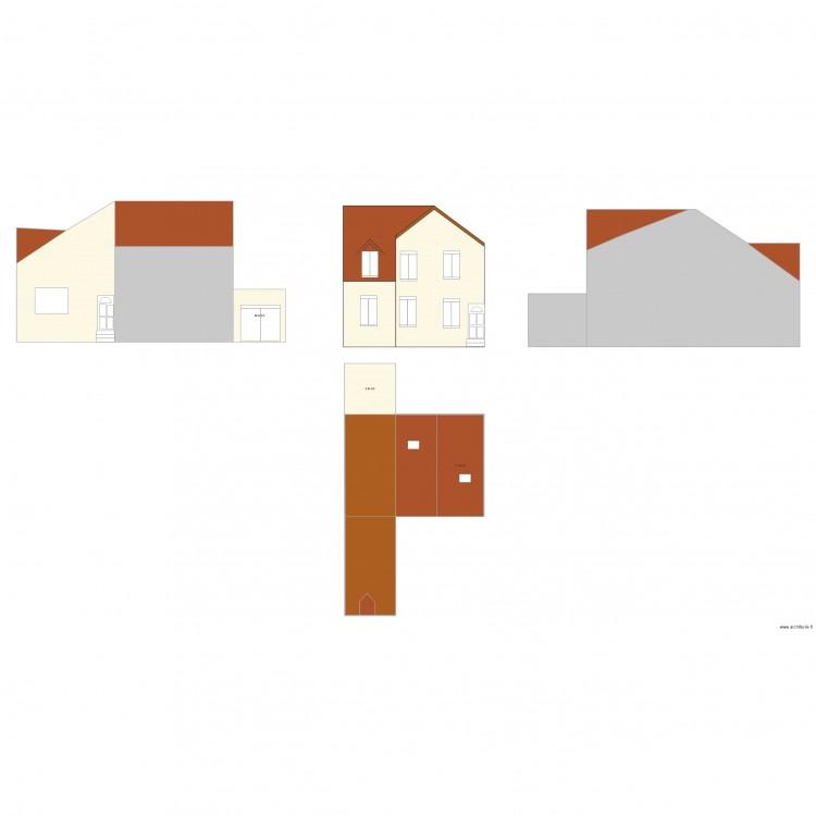 Dp4 plan des facades et des toitures plan 19 pi ces 377 m2 dessin par baghdadlr - Plan des facades et des toitures ...