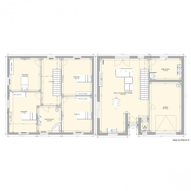 Maison Mitoyenne Cube Plan 10 Pieces 172 M2 Dessine Par Agron25