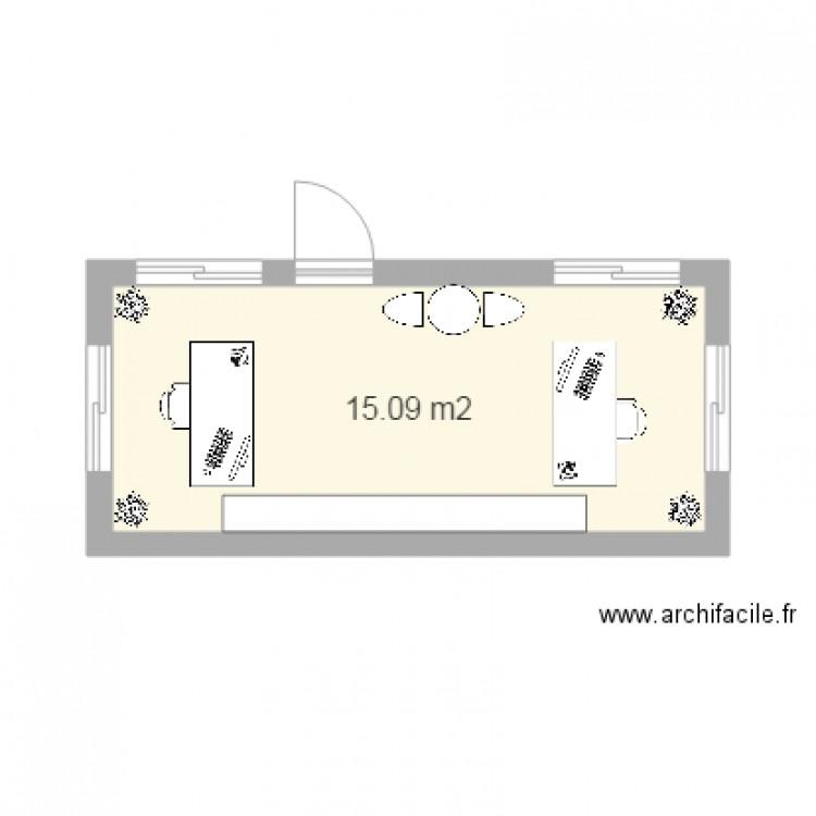 plan algeco plan 1 pi ce 15 m2 dessin par j. Black Bedroom Furniture Sets. Home Design Ideas