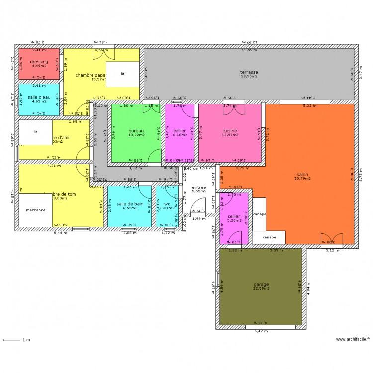 maison id ale 2 plan 16 pi ces 223 m2 dessin par svirkos
