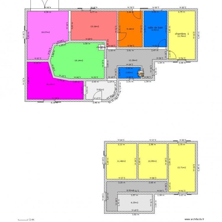 Maison patio hacienda fab plan 15 pi ces 172 m2 dessin for Plan maison patio