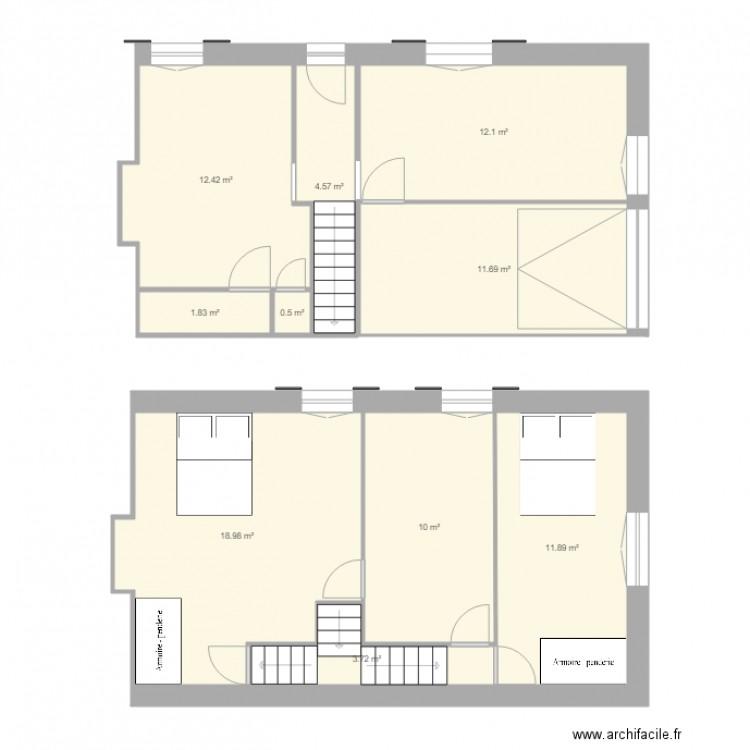 Maison cognac plan 10 pi ces 88 m2 dessin par jaetloic for Plan de cognac