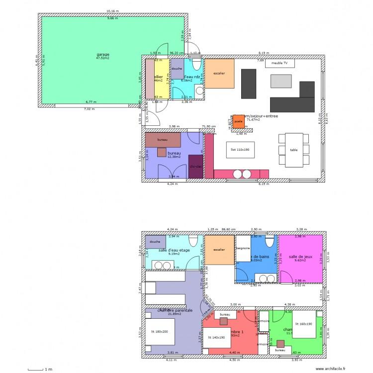 plan maison 12 x 8