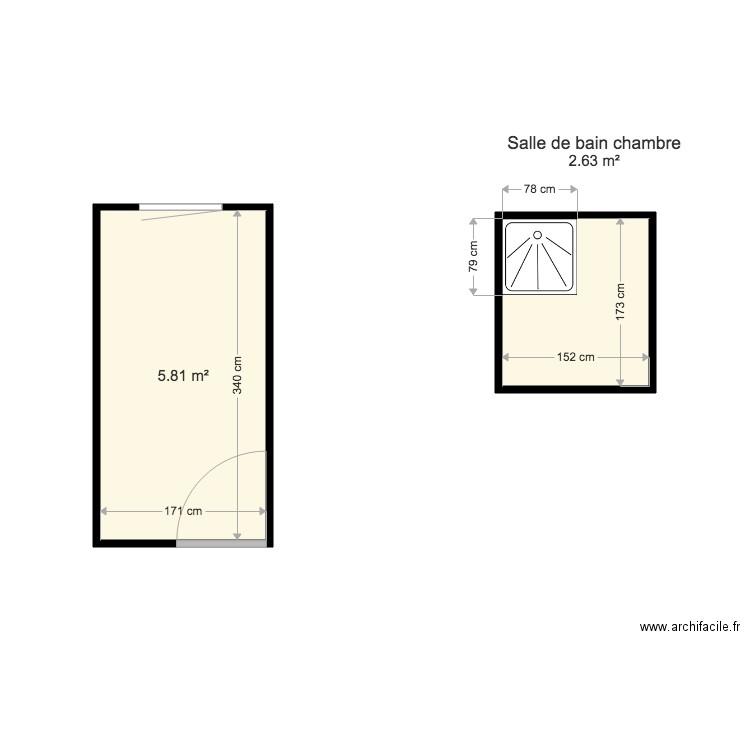salle de bain plan 1 pi ce 6 m2 dessin par publiz. Black Bedroom Furniture Sets. Home Design Ideas