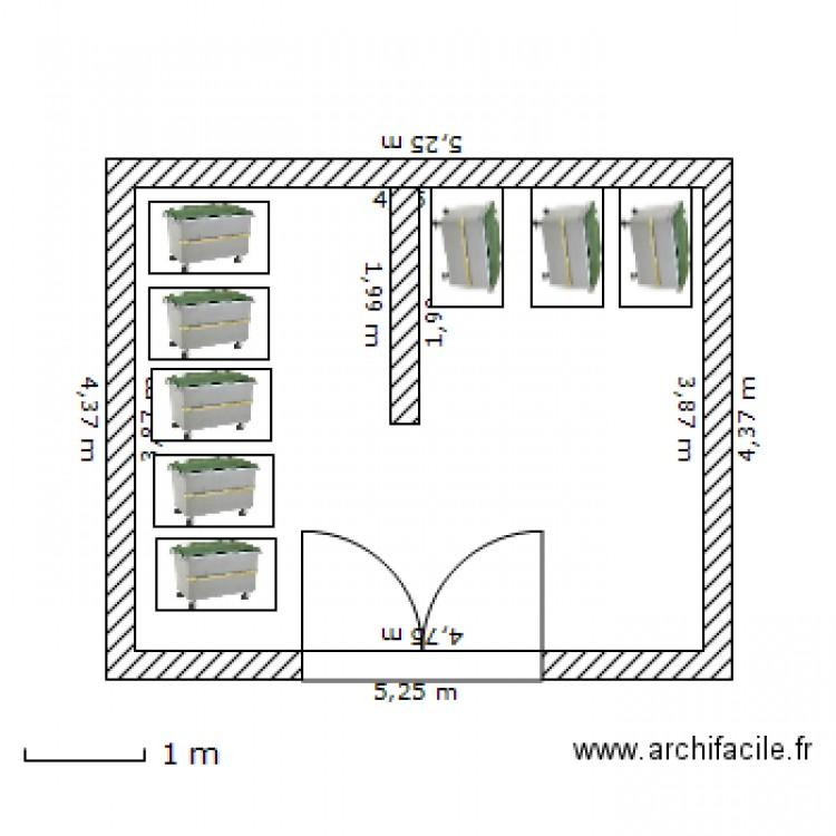local poubelles plan dessin par mecleor. Black Bedroom Furniture Sets. Home Design Ideas
