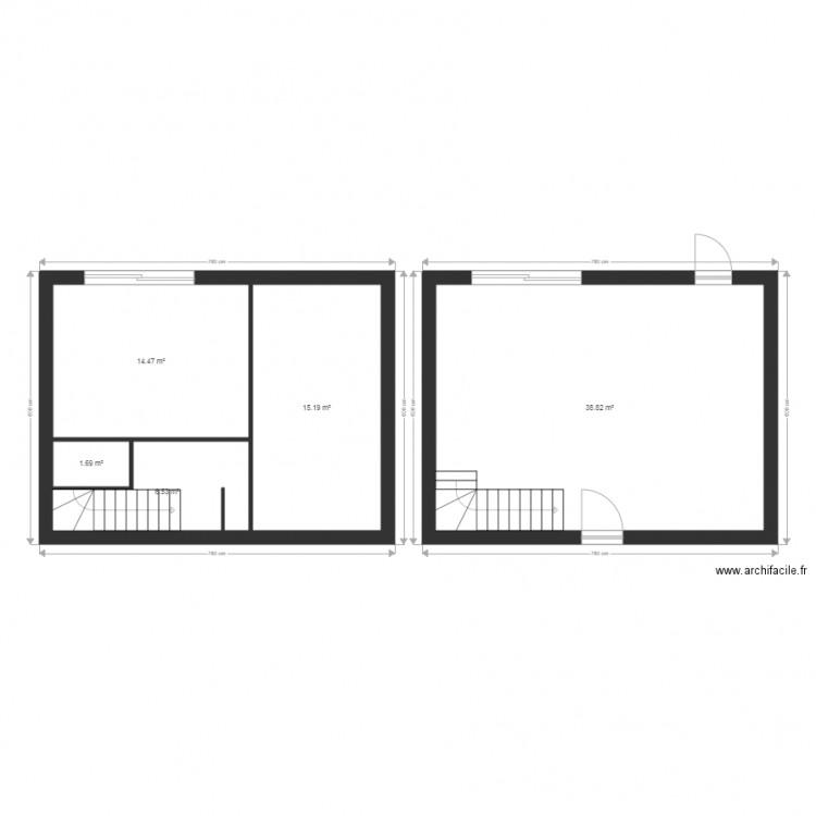 Maison st plan 5 pi ces 77 m2 dessin par pizzato313 for Plan de maison 5 pieces