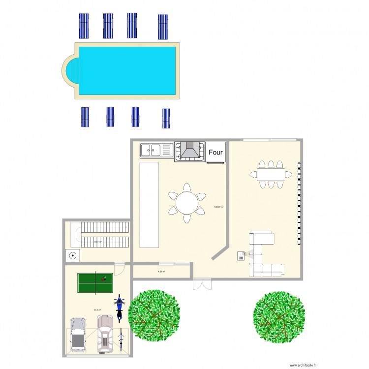Maison de mes reves plan 4 pi ces 181 m2 dessin par for Mes plans de maison