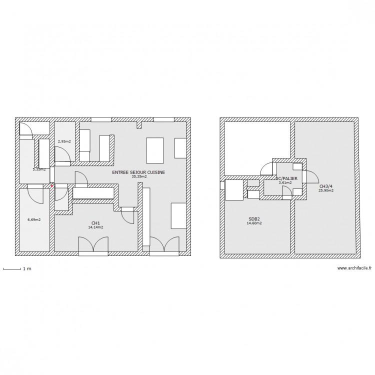 Maison 8x8 plan 8 pi ces 109 m2 dessin par kleinmountain03 for Taille moyenne maison