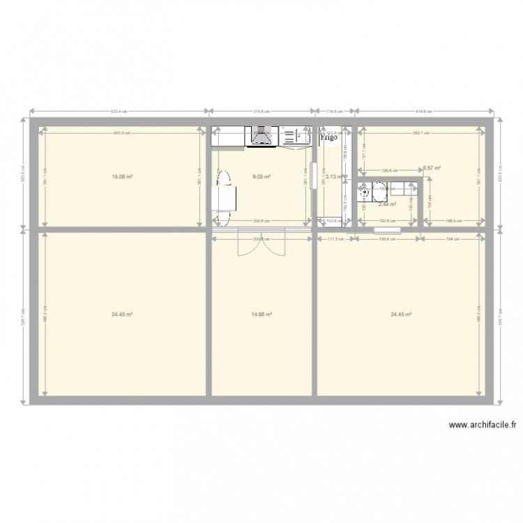 Maison En Rectangle Plan 8 Pi Ces 102 M2 Dessin Par