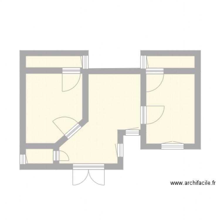 cabinet dentaire plan 5 pi ces 27 m2 dessin par manou75. Black Bedroom Furniture Sets. Home Design Ideas