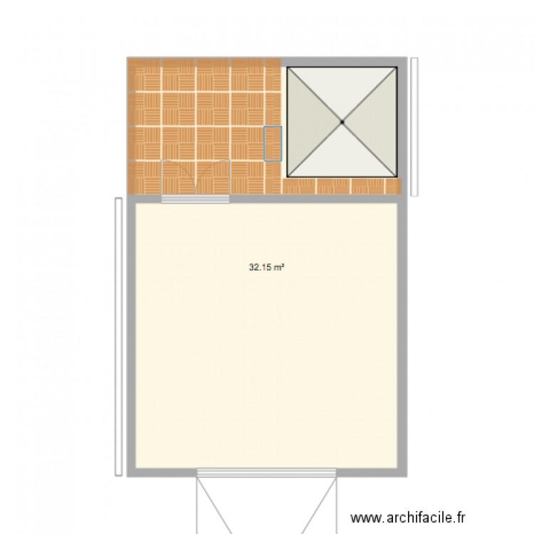 Garage 898 plan 1 pi ce 32 m2 dessin par gustalise for Taille d un garage