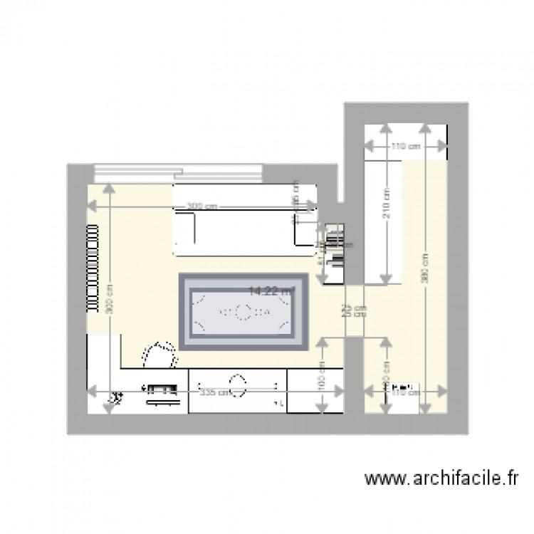 cave bureau salle de jeux plan 1 pi ce 14 m2 dessin par valerie taesch. Black Bedroom Furniture Sets. Home Design Ideas