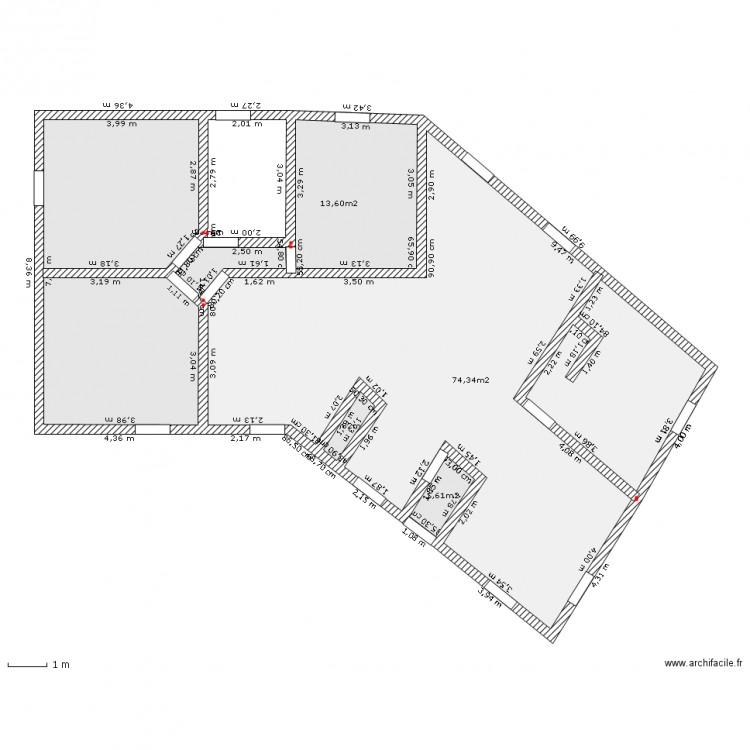 Maison v 140 m2 plan 5 pi ces 120 m2 dessin par chrisktm for Plan maison 140m2
