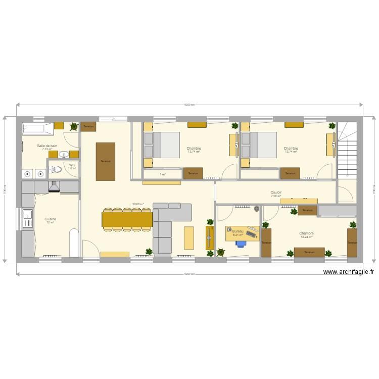 plan de maison 240 m2 gratuit