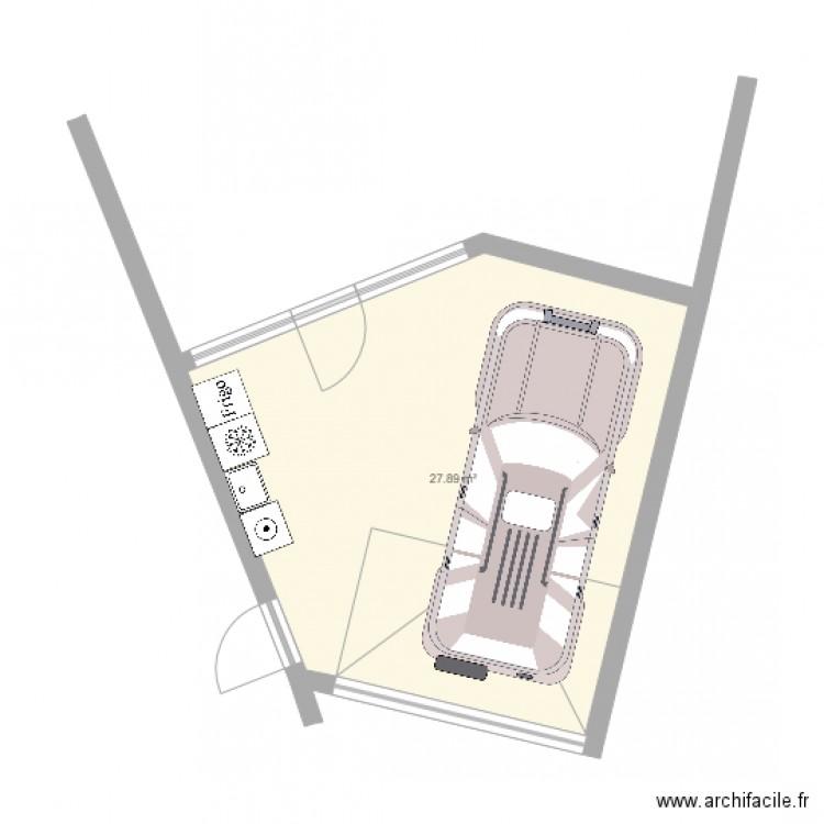 plan garage amenage plan 1 pi ce 28 m2 dessin par davidzu. Black Bedroom Furniture Sets. Home Design Ideas