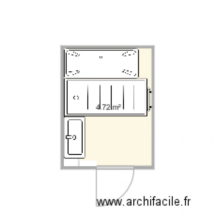 salle de bain 2 plan 1 pi ce 5 m2 dessin par vicwal3. Black Bedroom Furniture Sets. Home Design Ideas