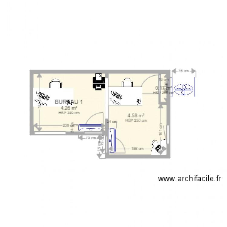 striebig climatisation bureau plan 3 pi ces 9 m2 dessin par houldinger. Black Bedroom Furniture Sets. Home Design Ideas