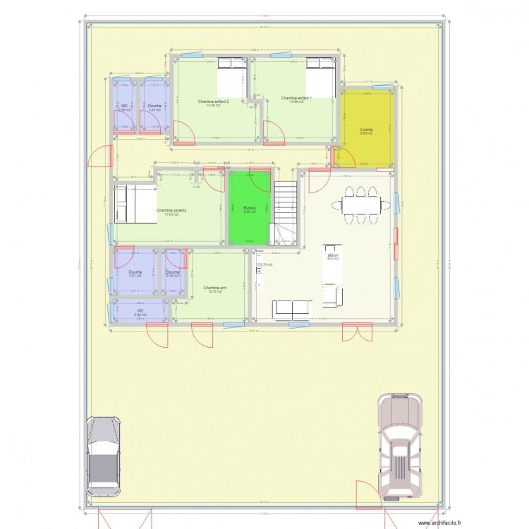 Maison 3 Plan 14 Pi Ces 526 M2 Dessin Par Bobo2015