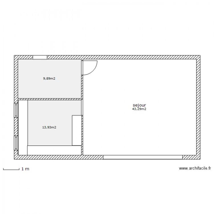 pool house plan 3 pi ces 67 m2 dessin par omarseille. Black Bedroom Furniture Sets. Home Design Ideas