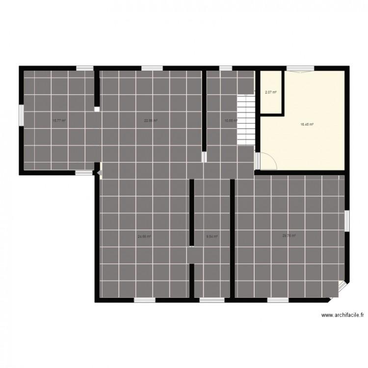 Carrelage droit plan 8 pi ces 132 m2 dessin par fsestac for Carrelage diagonale ou droit