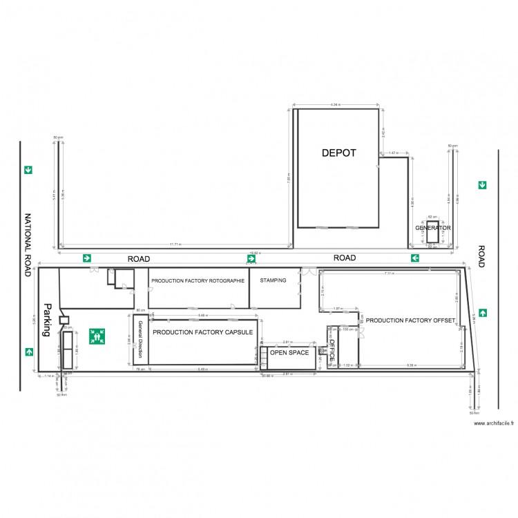 Plan bekoko sans fenetre 2 plan 18 pi ces 195 m2 dessin for Louer chambre sans fenetre
