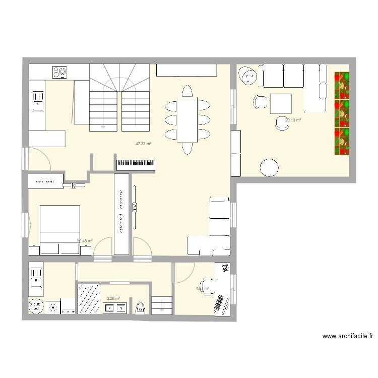 garage plan 4 pi ces 25 m2 dessin par vision. Black Bedroom Furniture Sets. Home Design Ideas