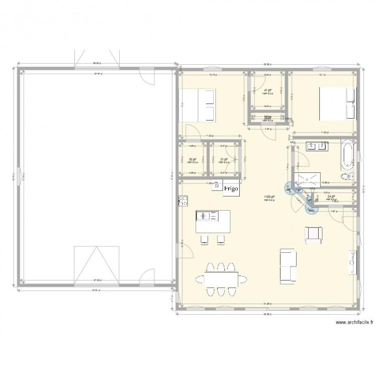 maison beaudry 2 plan 6 pi ces 116 m2 dessin par stephanedube1. Black Bedroom Furniture Sets. Home Design Ideas