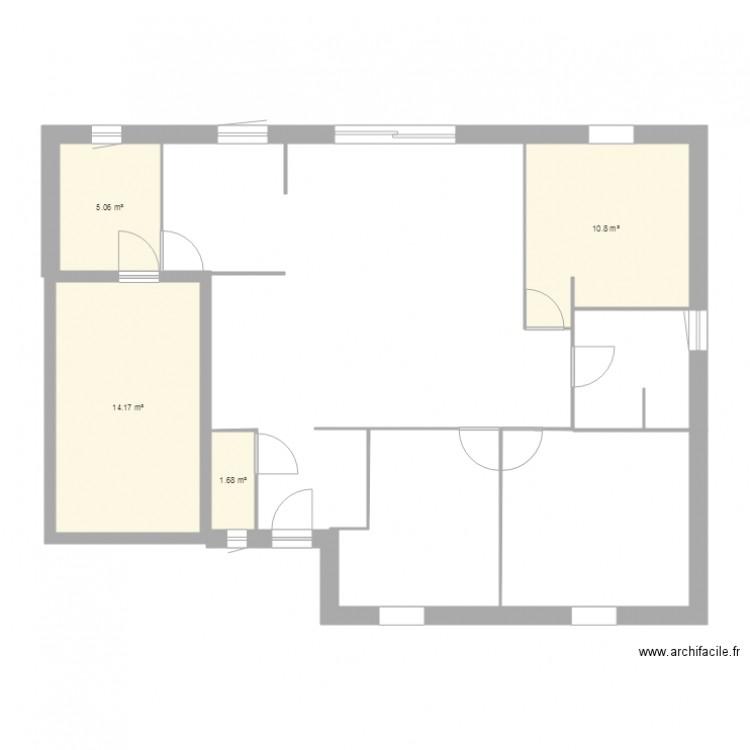 Maison plan 4 pi ces 32 m2 dessin par acattus for Taille moyenne maison
