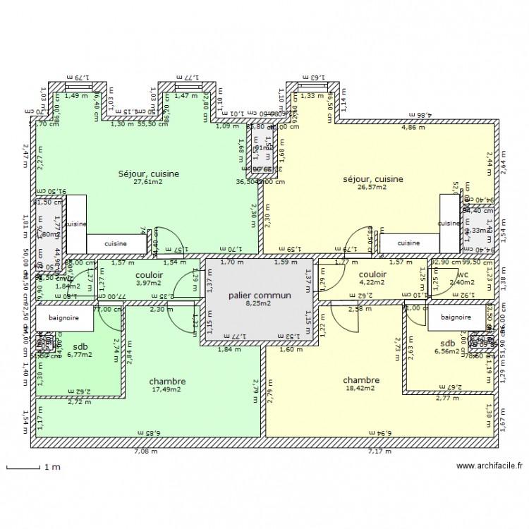 Ceinture25 combles am nag s ok plan 16 pi ces 129 m2 dessin par aprim for Plan combles amenages