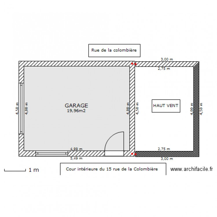 Plan de masse du garage et du haut vent plan 1 pi ce 20 for Plan de garage