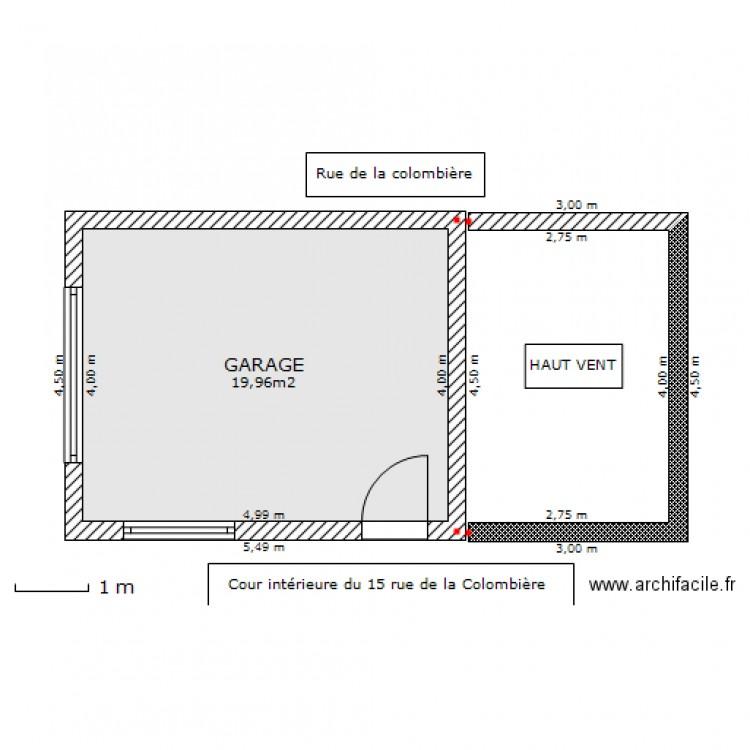 Plan De Masse Du Garage Et Du Haut Vent Plan 1 Pi Ce 20