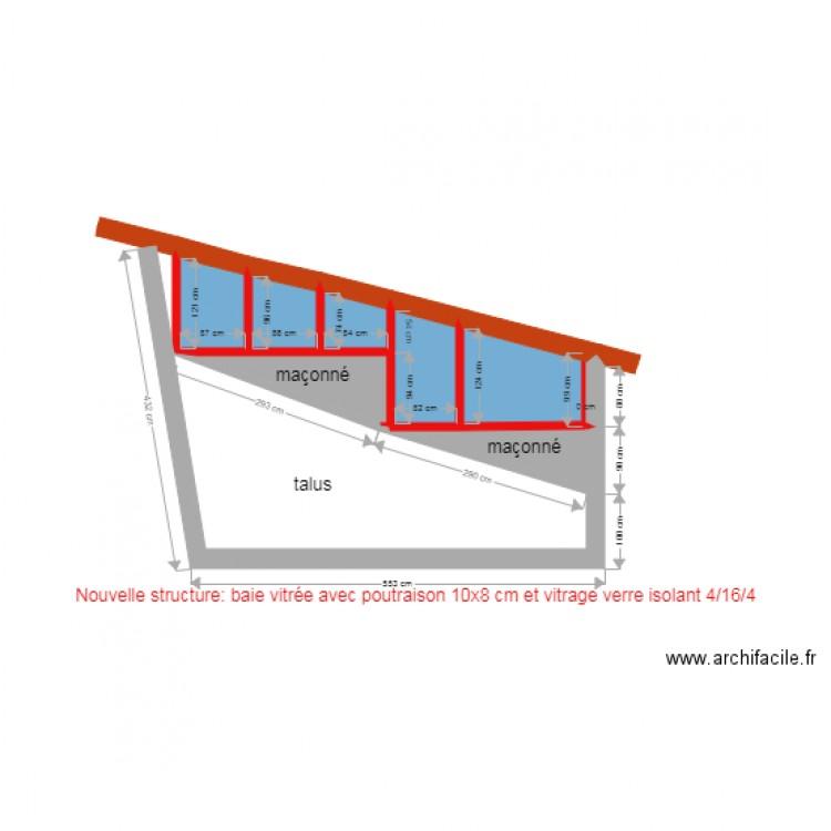 fa ade sud apr s modification plan 7 pi ces 7 m2 dessin par gianmichele. Black Bedroom Furniture Sets. Home Design Ideas