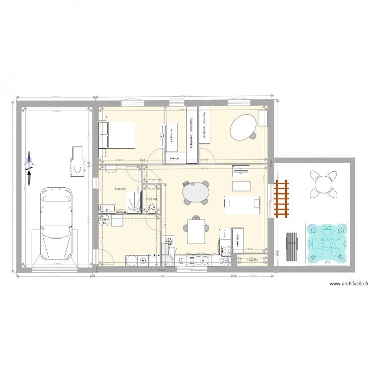 Ma maison plan 4 pi ces 73 m2 dessin par cuisine maison for Dessine ma maison gratuitement