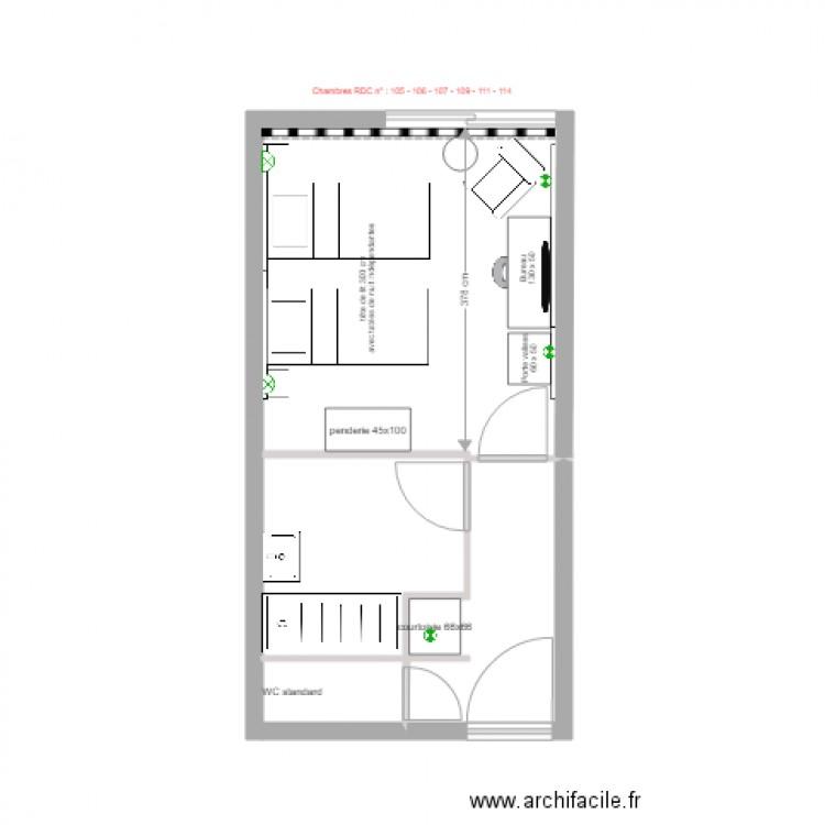 chambre type a 3 plan dessin233 par poiqsd