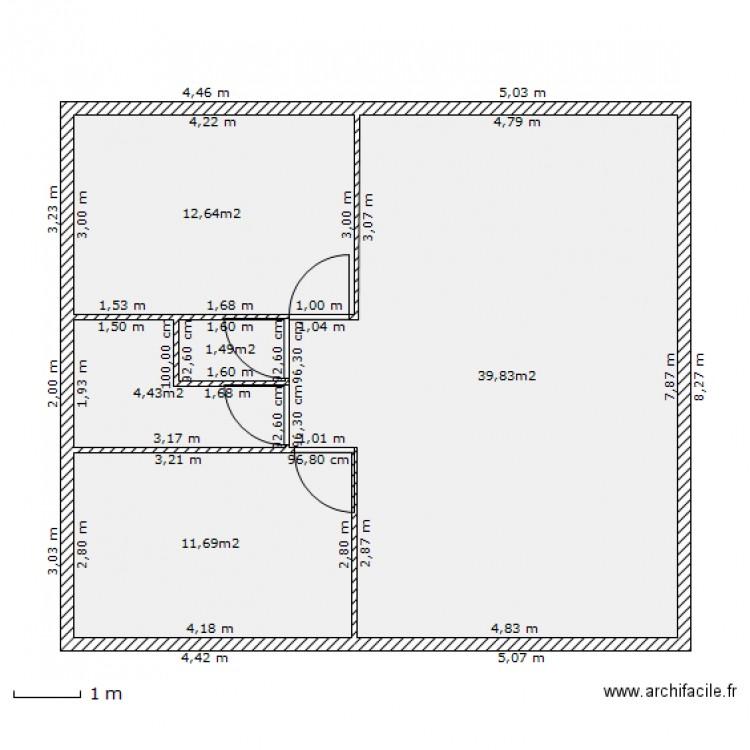 Maison 70m2 2 Plan 5 Pi Ces 70 M2 Dessin Par Rmatt33