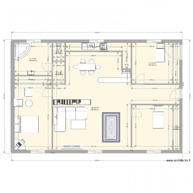 Ma maison plan 7 pi ces 115 m2 dessin par 16ziane for Dessine ma maison gratuitement