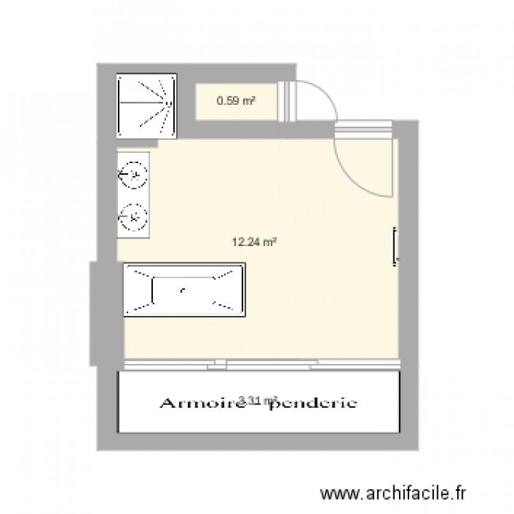 Salle De Bain Plan 3 Pi Ces 16 M2 Dessin Par Liuraee