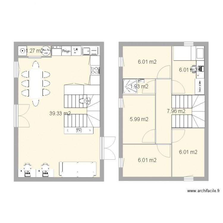 Plan Maison M Interieur  Plan  Pices  M Dessin Par Pasantoi