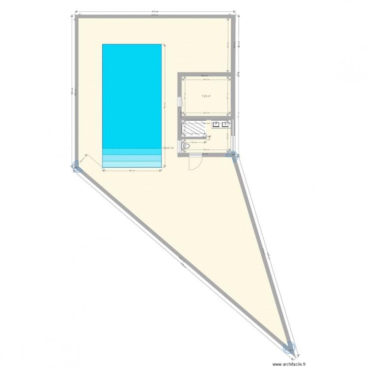 Piscine salle de bain plan 3 pi ces 132 m2 dessin par for Salle de bain 13m2