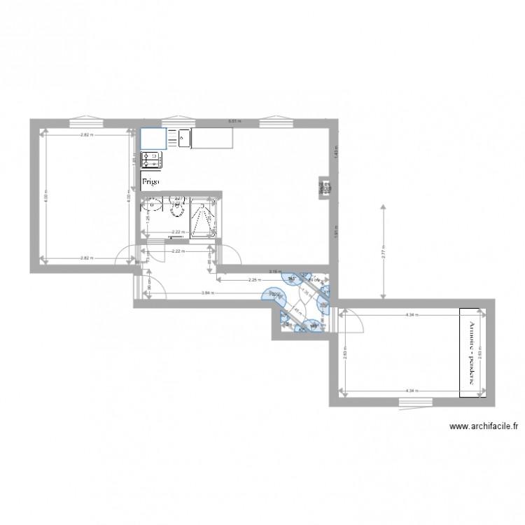 Proposition sous fenetre plan 8 pi ces 50 m2 dessin par for Fenetre plan