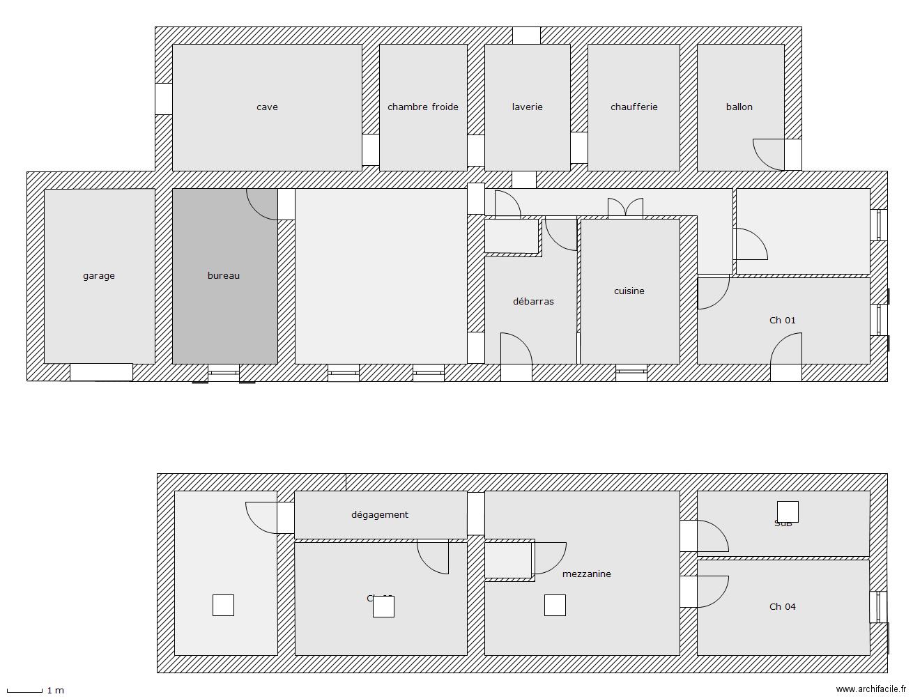 Architecture novatrice plan maison 210 m2 for Modifier plan maison