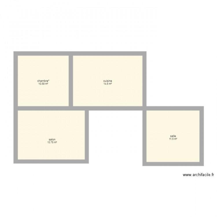 La maison de mes reves plan 4 pi ces 51 m2 dessin par for Mes plans de maison