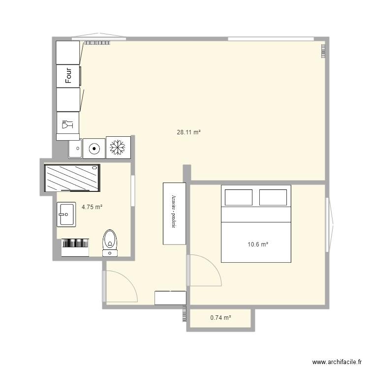 appart st ju plan 4 pi ces 45 m2 dessin par matmut. Black Bedroom Furniture Sets. Home Design Ideas