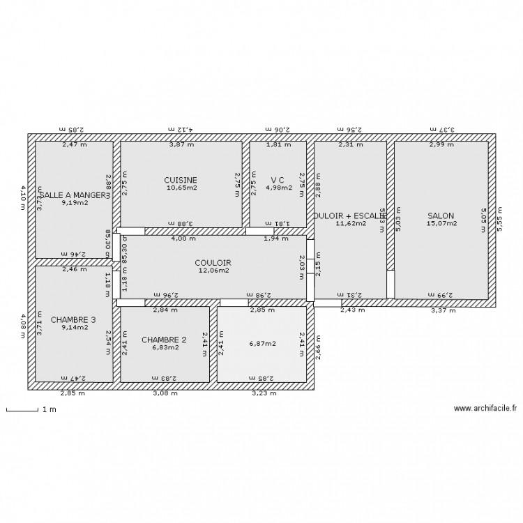maison de reve plan 9 pi ces 86 m2 dessin par tifidas. Black Bedroom Furniture Sets. Home Design Ideas