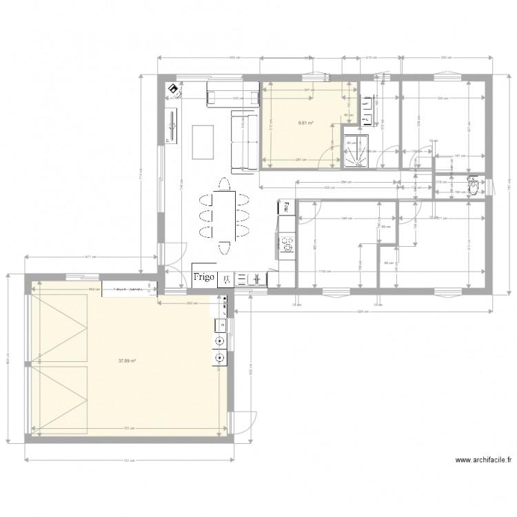 Maison 2 plan 2 pi ces 47 m2 dessin par elisa2505 - Plan de maison 2 pieces ...