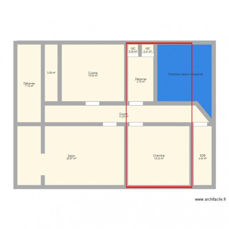 Maison et combles plan 11 pi ces 102 m2 dessin par shenx - Consommation electrique moyenne maison 140 m2 ...
