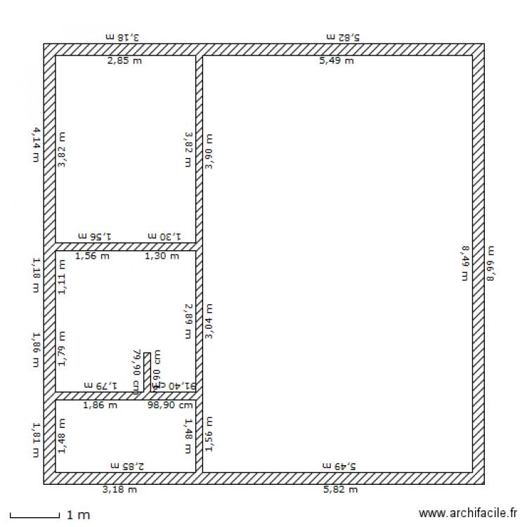 plan de maison 9x9