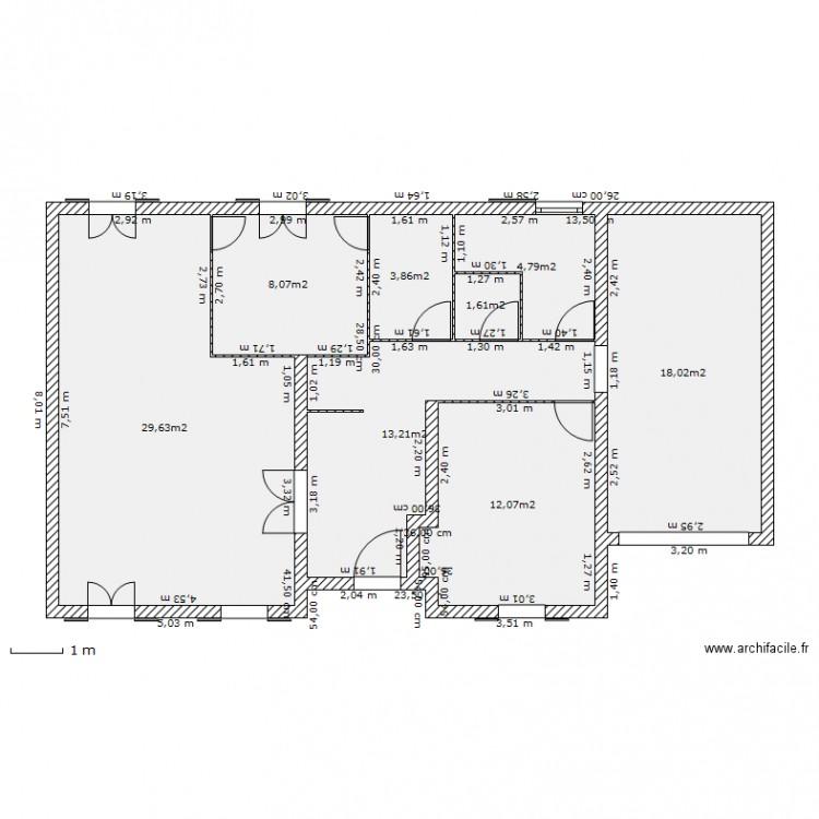 Plan maison 91m2 for Concevoir son propre plan de maison