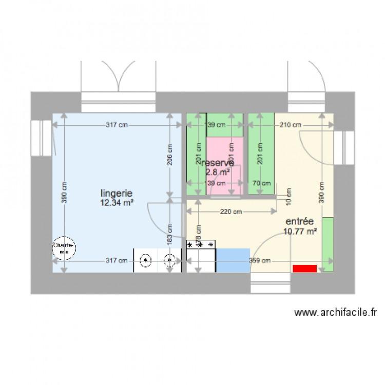 garage am nag 2 plan 3 pi ces 26 m2 dessin par sayanell. Black Bedroom Furniture Sets. Home Design Ideas